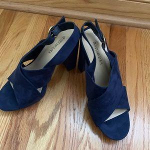 Blue suede shoes!!! Beautiful blue heels